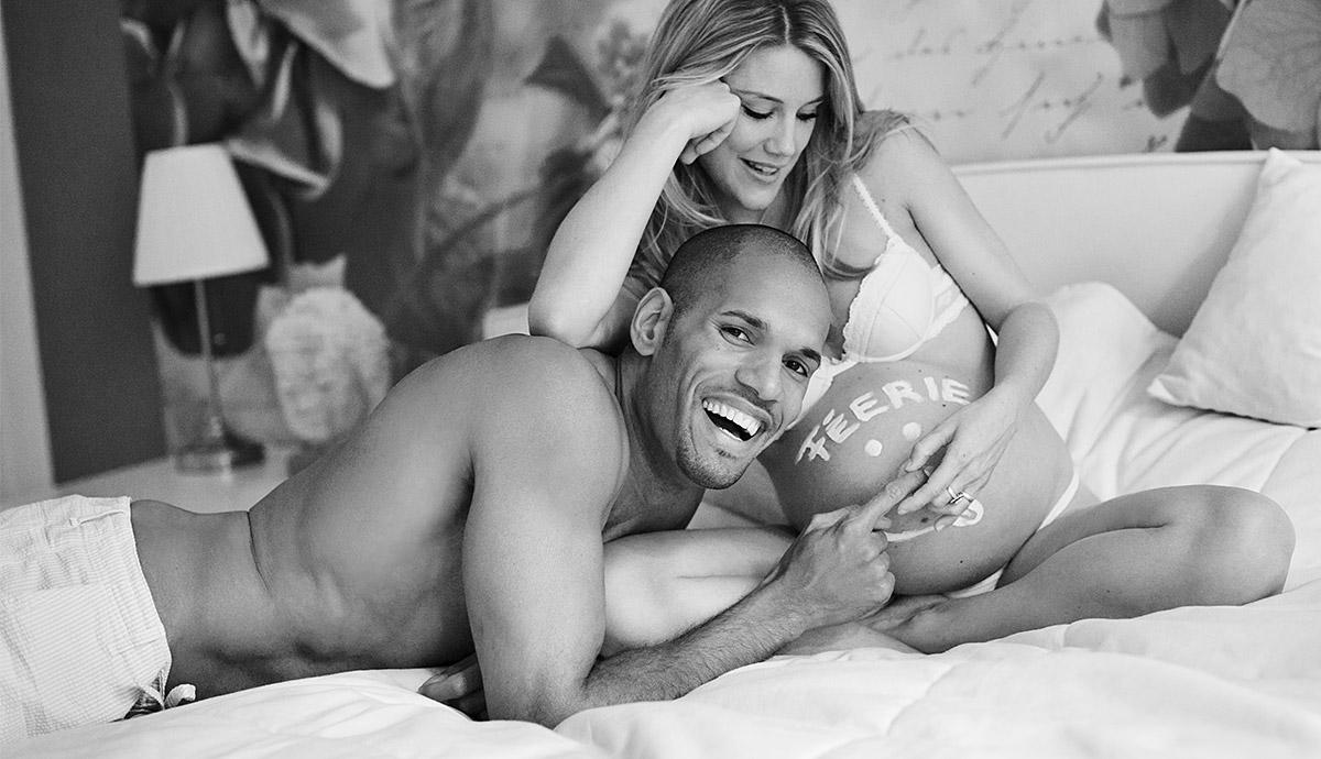 Schwangerschaftsfotos mit Ehemann Berlin